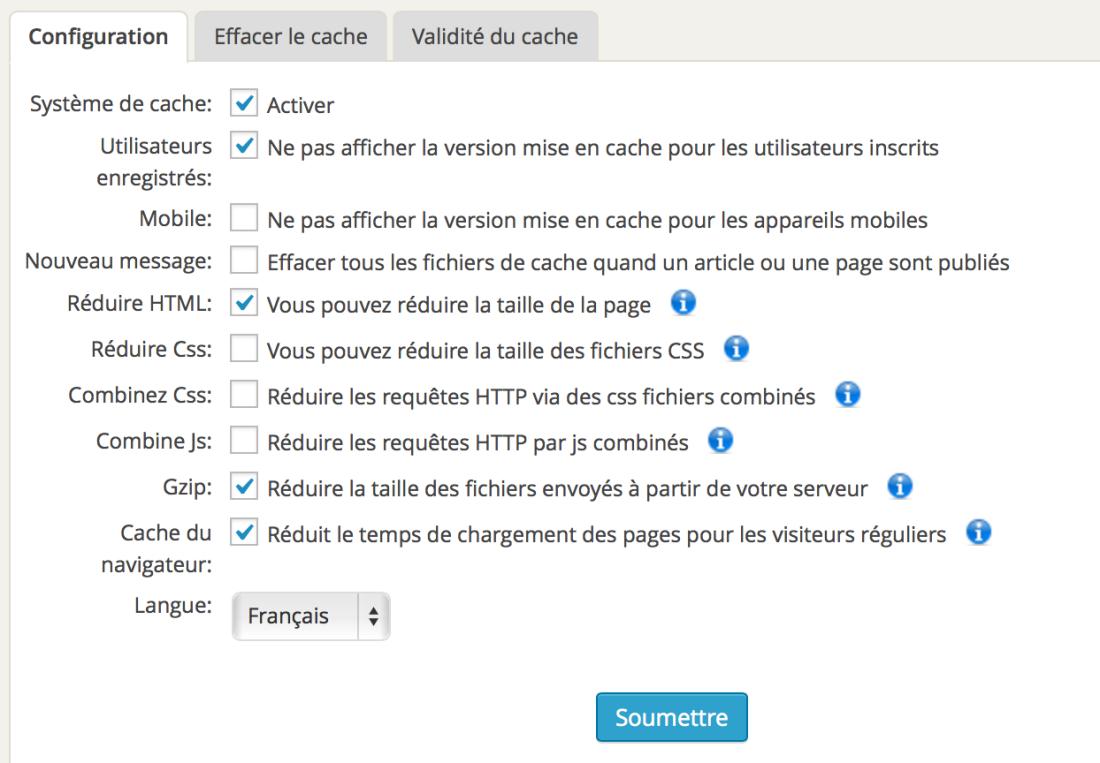 wp-fastest-cache-reglages