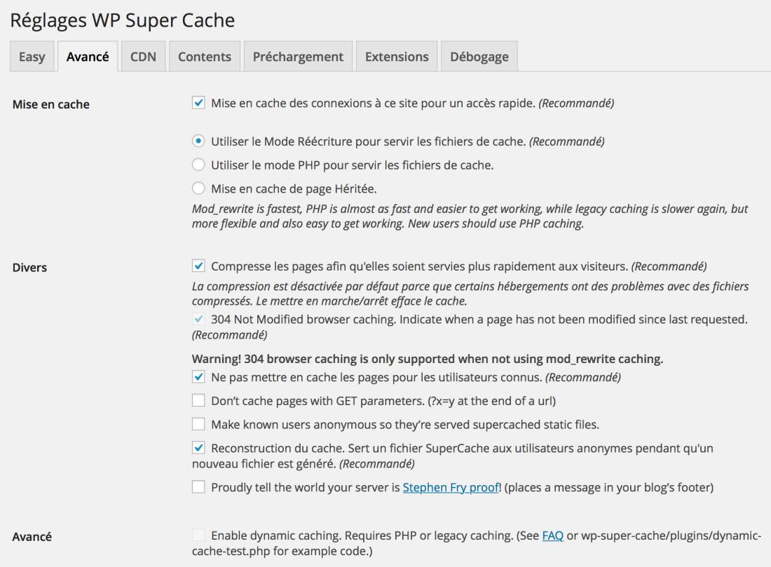 wp-super-cache-reglages
